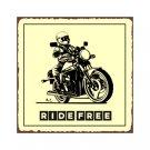 Motorcycle - Ride Free - Metal Art Sign