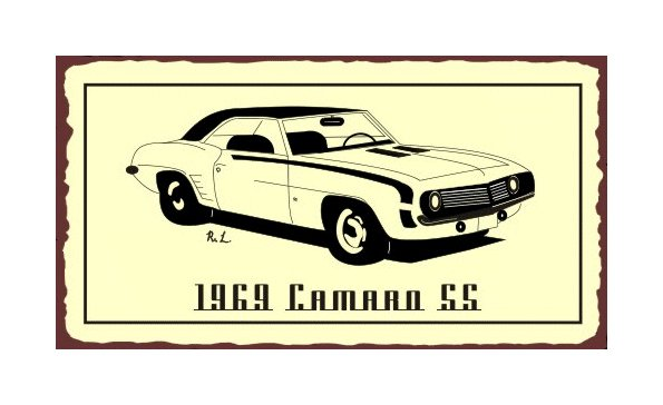1969 Camaro SS - Metal Art Sign