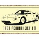 1962 Ferrari 250 LM - Metal Art Sign