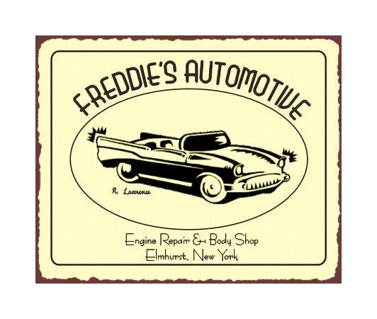 Freddie's Automotive - Metal Art Sign