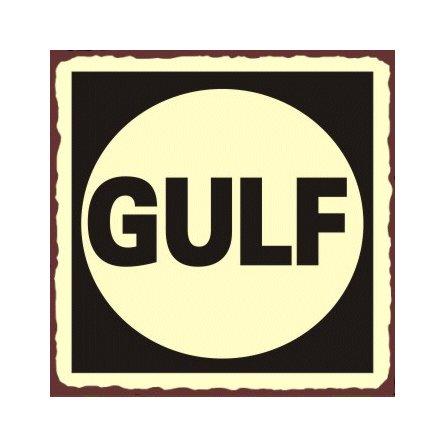 Gulf Oil - Metal Art Sign