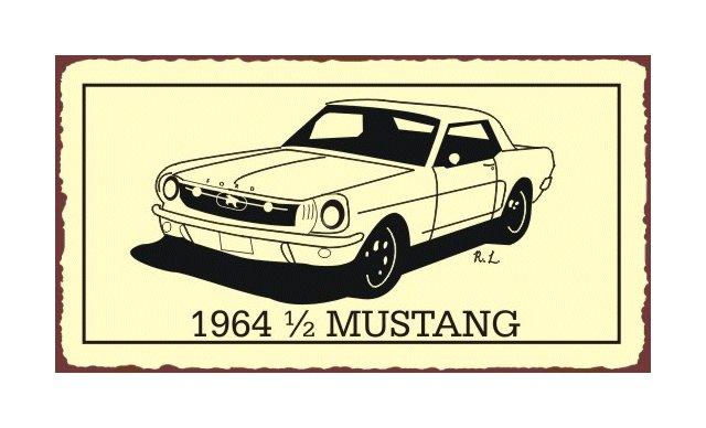 Ford - 1964 1/2 Mustang - Metal Art Sign