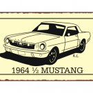 Ford - 1964 1/2 Mustang - Metal Art Sign