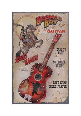 Bronco Boy Guitars Tin Sign