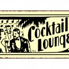 Cocktail Lounge Metal Art Sign