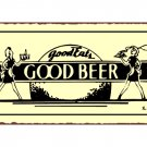 Good Eats Good Beer Metal Art Sign