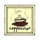 Cappuccino Metal Art Sign