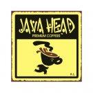 Java Head Premium Coffees Metal Art Sign
