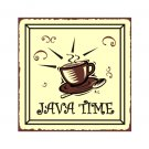 Java Time Metal Art Sign