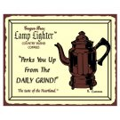 Lamp Lighter Country Blend Coffees Perks You Up From the Daily Grind Metal Art Sign