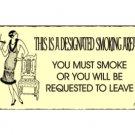 Designated Smoking Area Metal Art Sign