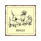 Beagle Dog Metal Art Sign