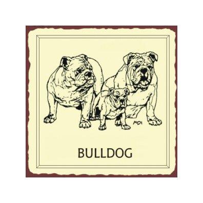 Bulldog Metal Art Sign