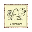 Chow Chow Metal Art Sign
