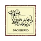 Dachschund Dog Metal Art Sign