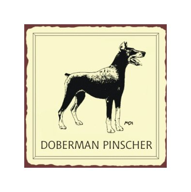 Doberman Pinscher Dog Metal Art Sign