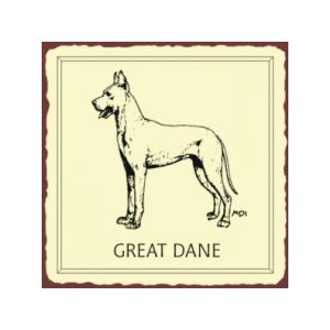 Great Dane Dog Metal Art Sign