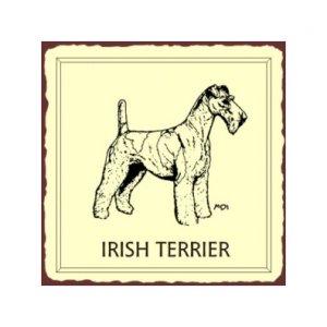 Irish Terrier Metal Art Sign