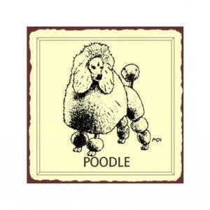 Poodle Dog Metal Art Sign
