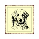 Retriever Dog Sketch Metal Art Sign