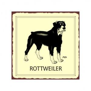 Rottweiler Dog Metal Art Sign
