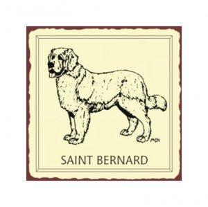 Saint Benard Dog Metal Art Sign