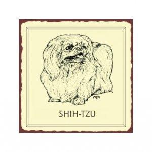 Shih-tzu Dog Metal Art Sign