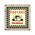 Pancake Breakfast Metal Art Sign