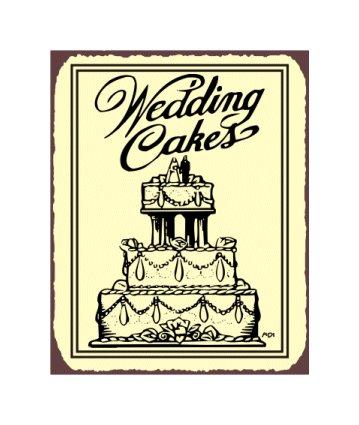 Wedding Cakes Metal Art Sign