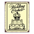 Wedding Cakes Metal Art Sign