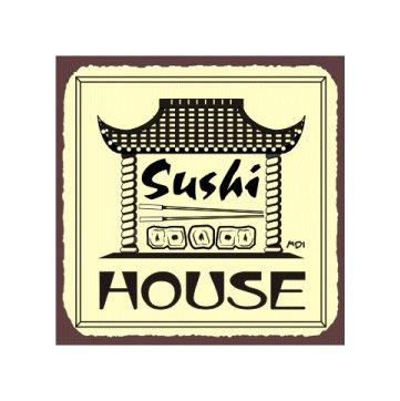 Sushi Chef Metal Art Sign