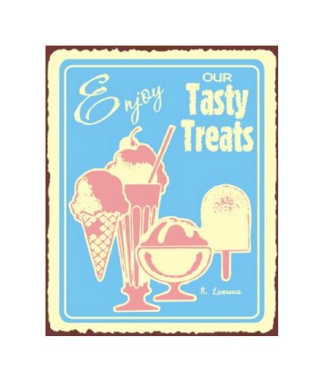 Enjoy Our Tasty Treats Metal Art Sign