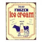 Try Our Frozen Ice Cream Metal Art Sign