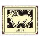 Aries Zodiac Metal Art Sign