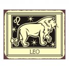 Leo Zodiac Metal Art Sign