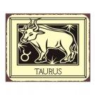 Taurus Zodiac Metal Art Sign