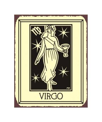 Virgo Zodiac Metal Art Sign