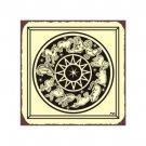 Zodiac Wheel Metal Art Sign