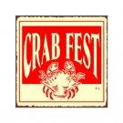 Crab Fest Metal Art Sign