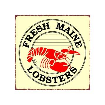 Fresh Maine Lobsters Metal Art Sign
