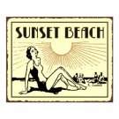 Sunset Beach Metal Art Sign
