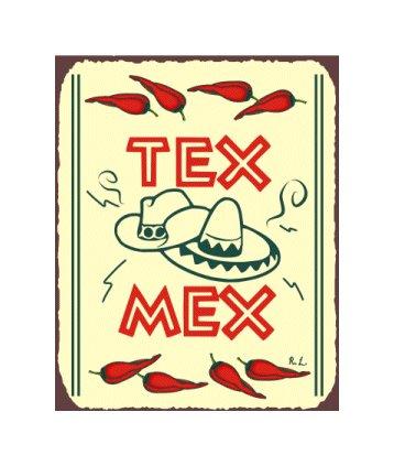 Tex Mex Metal Art Sign