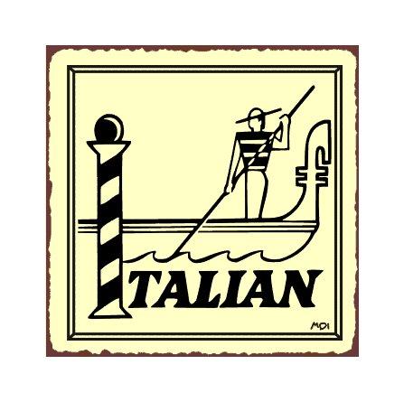 Italian Gondola Metal Art Sign
