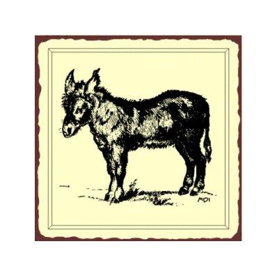 Donkey Metal Art Sign