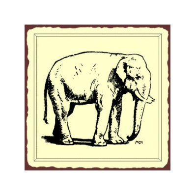 Elephant Metal Art Sign