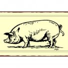 Pig Metal Art Sign