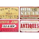 Antique Collectible Tin Signs - Old Stuff - Useful Junk - Buy and Sell - Set of 4 Signs