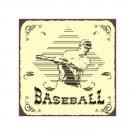 Baseball in Diamond - Metal Art Sign