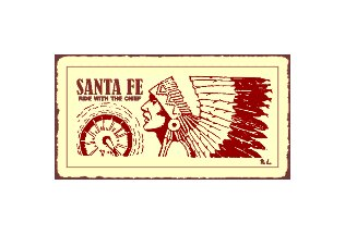 Santa Fe Ride With the Chief Train Sign - Metal Art Sign