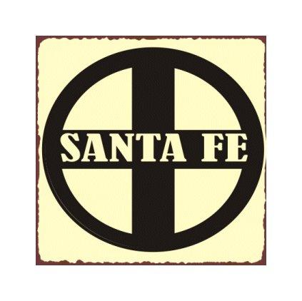 Santa Fe Train Sign - Metal Art Sign